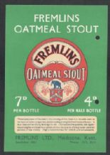 Beer label labels Fremlins Elephant 1941